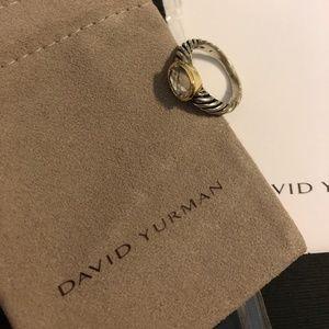David Yurman White Topaz Gemstone Ring Sz 7